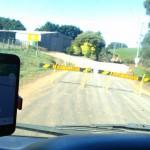 Route barrée à qq mètres de l'arrivée